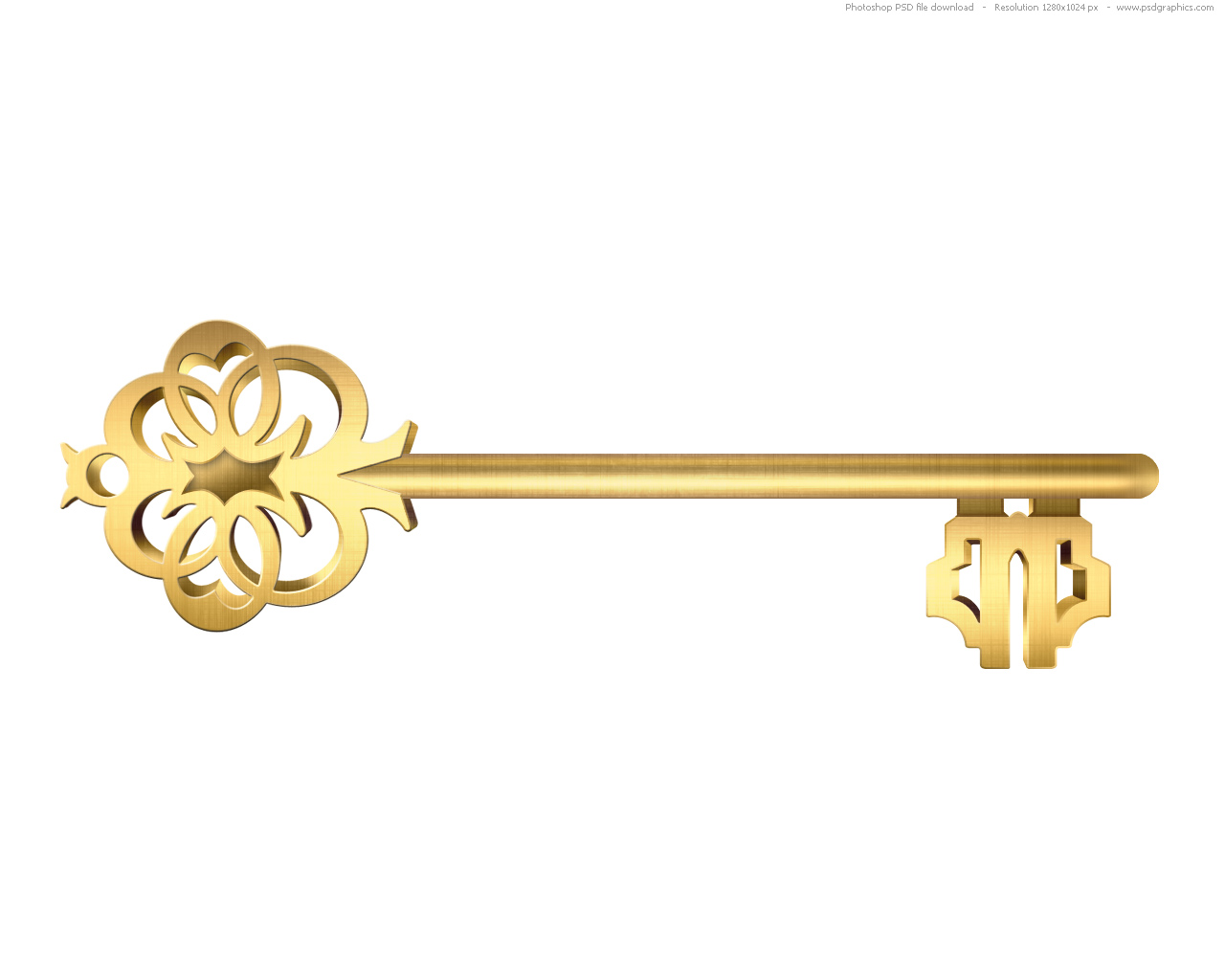 Golden Key Clip Art